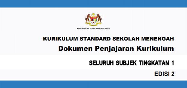 Dokumen Penjajaran Kurikulum 2.0 (DPK 2.0) KSSM Tingkatan 1