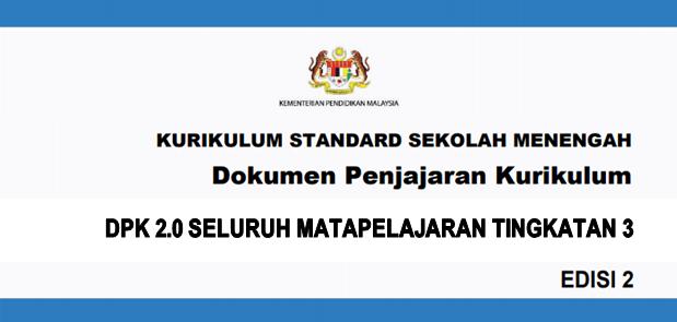 Dokumen Penjajaran Kurikulum 2.0 (DPK 2.0) KSSM Tingkatan 3