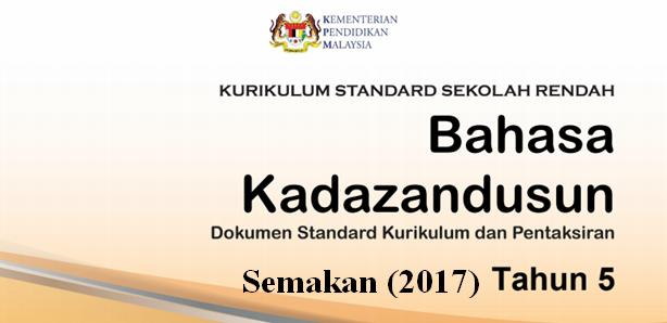 DSKP KSSR (Semakan 2017) Bahasa Kadazandusun Tahun 5