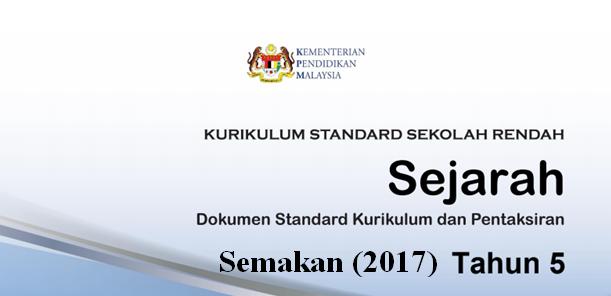 DSKP KSSR (Semakan 2017) Sejarah Tahun 5